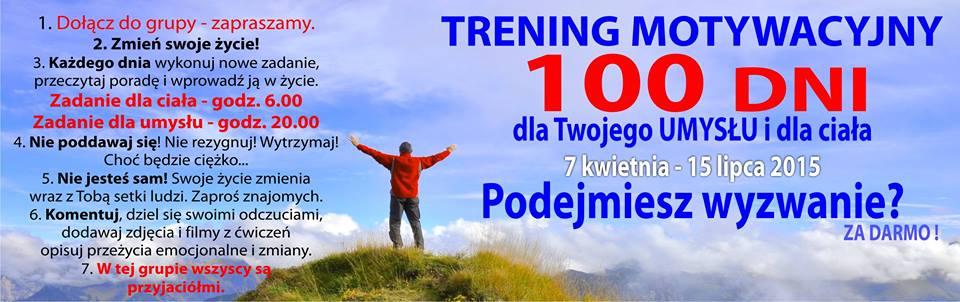 Trening motywacyjny przez 100 dni Adama Jakubiaka