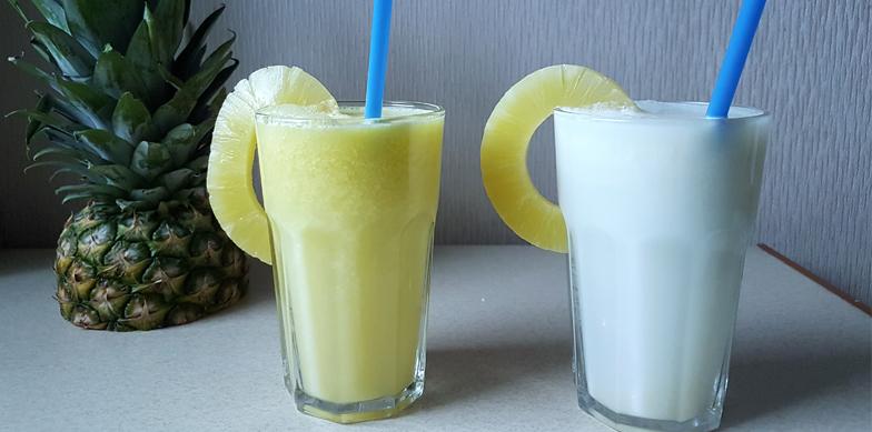 Pina Colada z domowego mleczka kokosowego