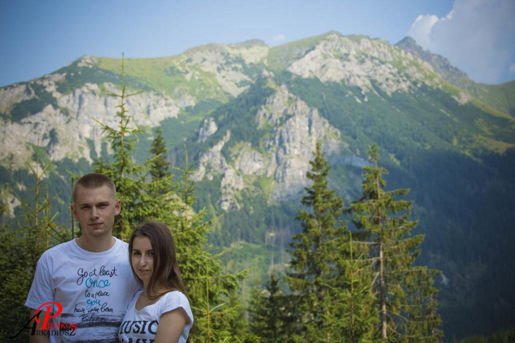 Morskie Oko, Tatry, góry, para, małżeństwo
